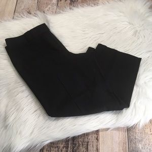 ANN TAYLOR SZ 8 MARGO FIT CAPRI DRESS PANTS BLACK